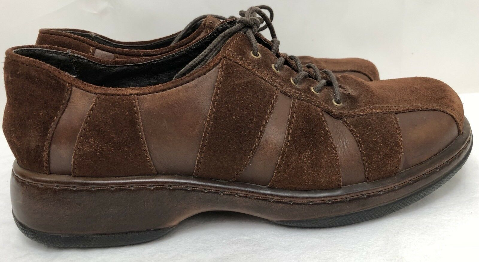 Womens DANSKO Brown Leather & Suede Oxfords Shoes Sneakers SIZE 39 US 8.5-9