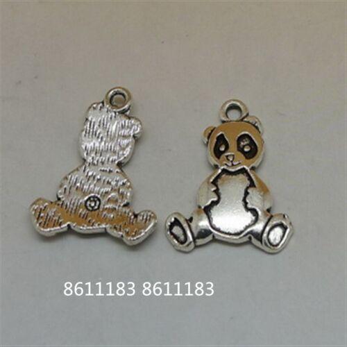 10pc Tibetan Silver Panda Animal Pendant Charms Jewelry Making GP447