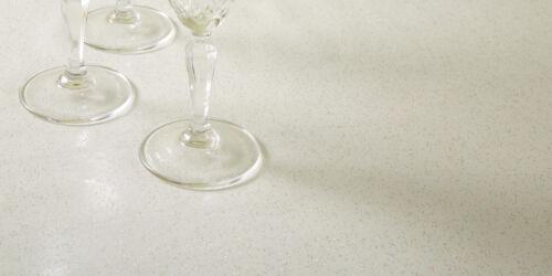 Glitter paillettes blanc vinyle facile à nettoyer pvc nappe sparkle