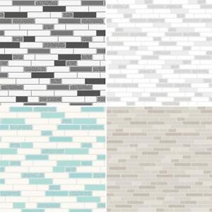 Oblong-Stone-Tile-Kitchen-Bathroom-Wallpaper-Vinyl-Silver-Glitter-Holden-Decor