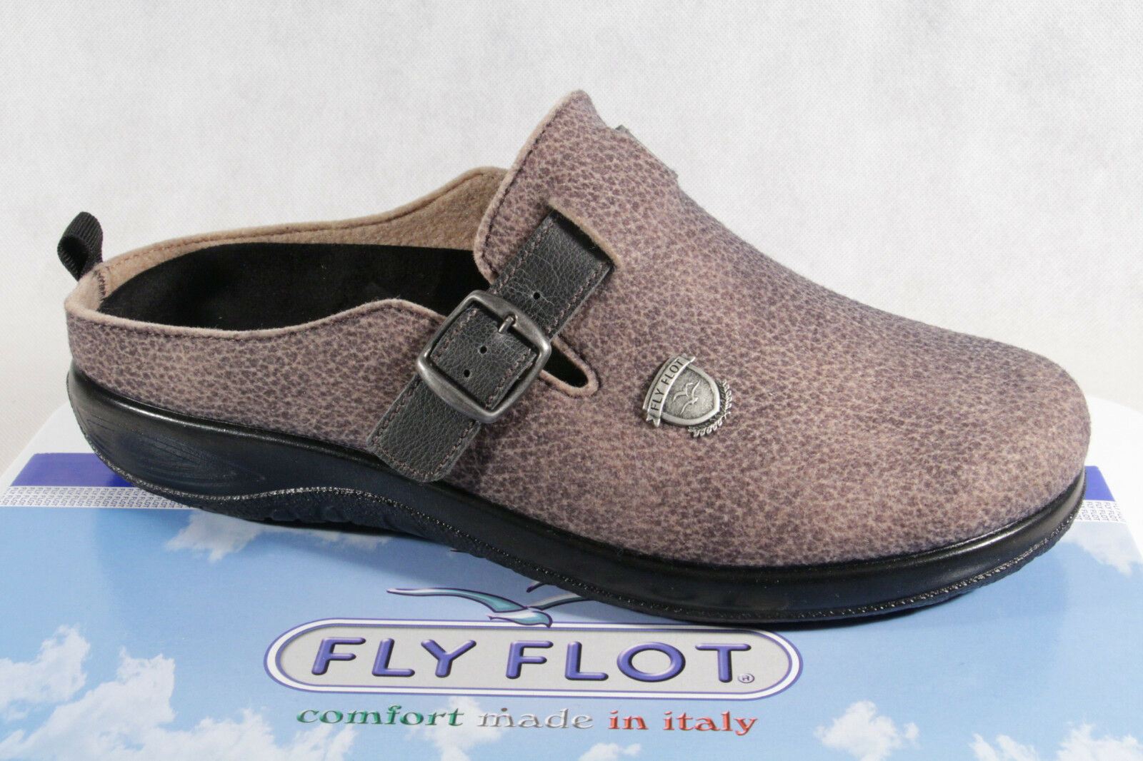 Fly Fly Fly Flot Men's Slippers, filzoptik, Brown, removable footbed NEW e99429