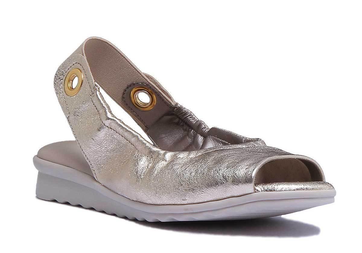 The Flexx donna Leather Metallic oro  Open Toe Wedge Sandals Dimensione UK 3 -8  autentico online
