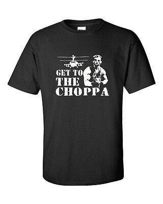 GET TO THE CHOPPA ARNOLD SCHWARZENEGGER Movie Mens T-Shirt 119