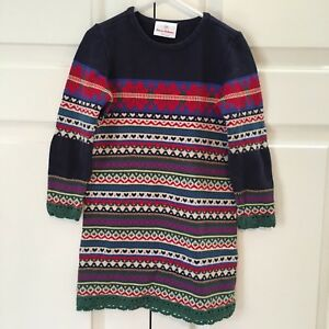 f0f76c4cc37 Hanna Andersson girls sweater dress size 100 US size 4 Christmas ...