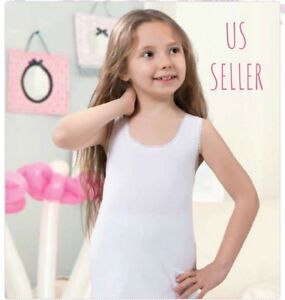 4933f74e4a9 Image is loading Girls-Underwear-Cotton-Tank-Top-and-panties-2-