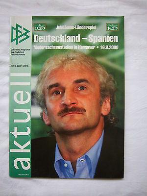 Hingebungsvoll Original Prg 16.08.2000 Deutschland - Spanien !! Selten