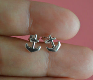 925-Sterling-Silver-Tiny-Nautical-Anchor-Stud-Earrings-Small-Anchor-Earrings