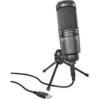 Audio-Technica AT2020USB PLUS Deluxe USB Cardioid Condenser Microphone