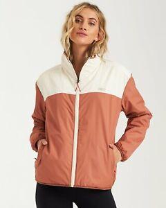 New-NWT-Women-039-s-Billabong-A-DIV-Atlas-Reversible-Zip-Up-Front-Jacket-Size-Small