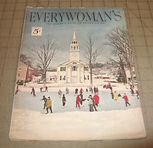 EVERYWOMAN'S (Feb 1952) Good+ Condition Magazine, Woman's Guide to Better Living