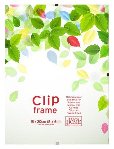 Clair Clip Cadre Cadre Photo-différentes tailles-Cadres Photo en Verre Lot de 10