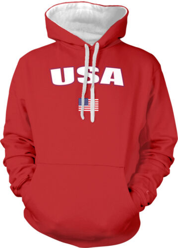 United States USA Country Pride Patriotic Freedom America 2-tone Hoodie Pullover
