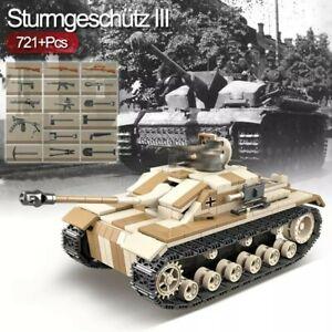 Lego-ww2-Tank-Stug-Panzer-Allemand-Vehicule-Militaire-Jouet-Construction-char