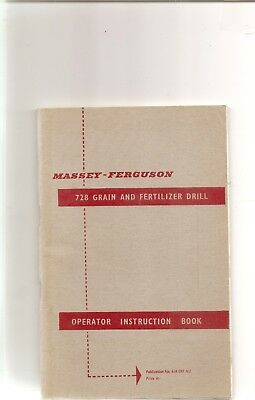 Other Original 110 Pages Ferguson Grain & Fertiliser Drill Instruction Book ......