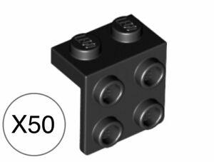 LEGO Black Bracket 1x2-2x2 Inverted Lot of 100 Parts Pieces 99207