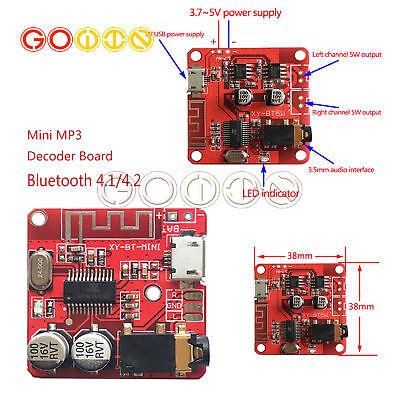 Micro USB 3.7-5V Audio Decoder Mini Bluetooth 4.1 MP3 Player Board TF SD Module