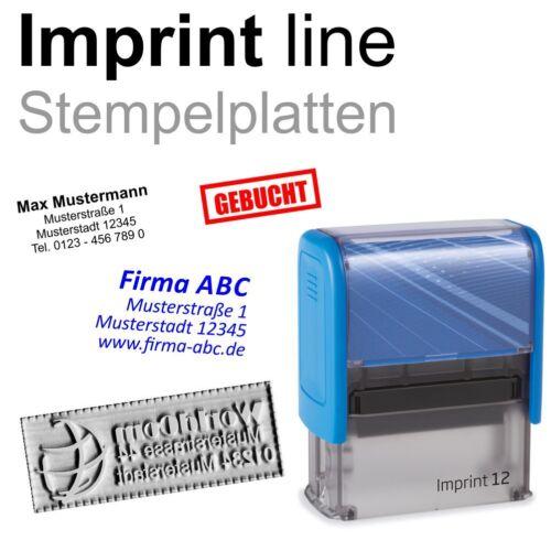 Stempelplatte Textplatte Trodat IMPRINT line 10 11 12 13 15 Schnellservice