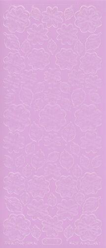 Starform Outline Stickers 1113 Fleurs Flowers Auto-collants Peel offs
