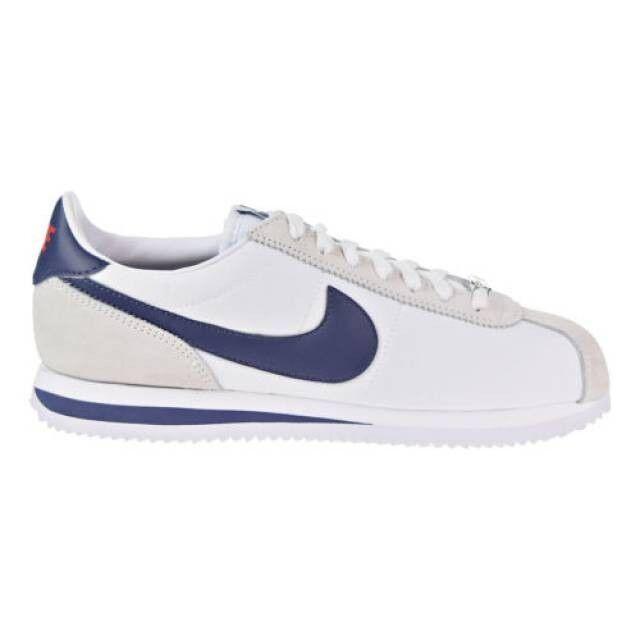 Nike Blanc Nylon Chaussures Basic Neutral Cortez Hommes UxZqw8AU1