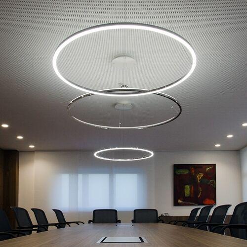 New Modern LED Round Acryl Ring Ceiling Chandelier Pendant Lamp Lighting Xmas