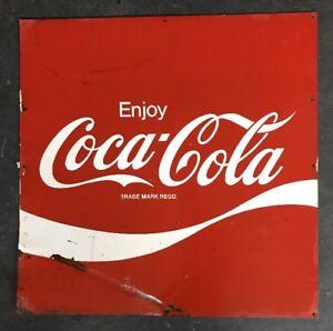 Coke-Coca-Cola-Genuine-Vintage-Metal-Australian-Tin-Sign-Milk-Bar