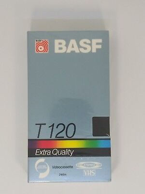Audaz Vhs Tape Basf T120 Extra Quality 6 Hours Factory Sealed New In Packaging Fuerte Resistencia Al Calor Y Al Desgaste.