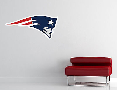 New England Patriots Logo Wall Decal Old School NFL Sticker Decor Vinyl CG805