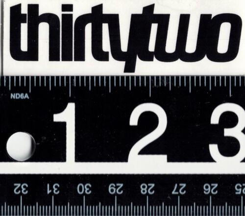 THIRTYTWO SNOWBOARD STICKER Black Thirtytwo Snowboarding Sticker 32 Decal