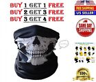 2 Ghost Biker Skull Hood Face Mask Motorcycle Ski Balaclava CS Sport Helmet