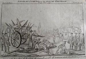 Gonesse-Plaine-de-Grenelle-en-1791-Paris-Gravure-Journal-Revolution-Francaise