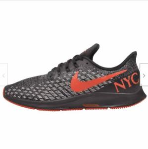 Details zu Nike Luft Zoom Pegasus 35 Running Herren Schuhe Nyc Marathon Schwarz Rot