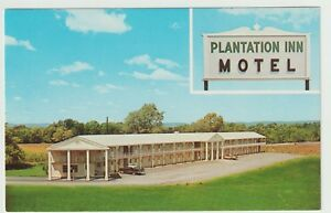 Undated-Unused-Postcard-Plantation-Inn-Motel-Mechanicsburg-Pennsylvania-PA