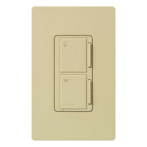 Lutron Maestro MA-LFQ35M-IV Fan Control and Light Dimmer Halogen Switch IVORY