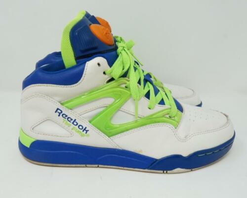 Reebok The Pump Sneaker Shoes White Green Blue Men