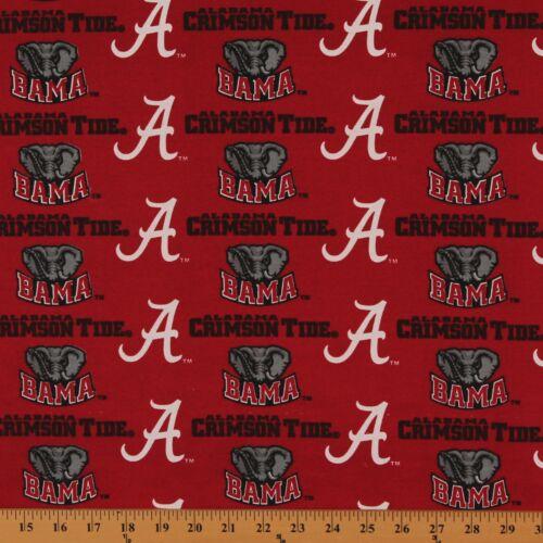 CottonBlend Duck University of Alabama Crimson Tide Duck Fabric Print AL-250