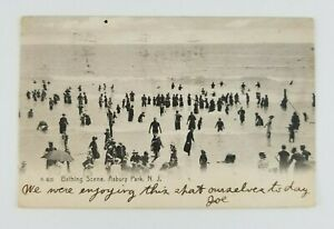 Postcard-Bathing-Scene-Asbury-Park-New-Jersey-Waves-Atlantic-Ocean-1906