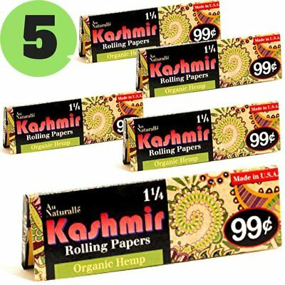 Kashmir Rolling Paper 100% Organic Hemp 1-1/4 Cigarette Rolling Papers -  Made    657040964924 | eBay