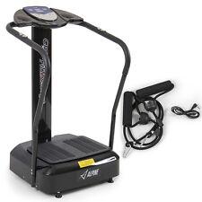 New 2000W Crazy Fit Whole Body Vibration Plate Machine Massage Massager, Black