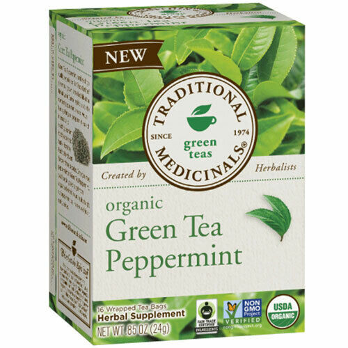Organic Green Tea Peppermint 16 Bag