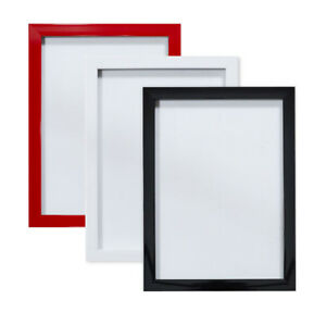 BLACK-WHITE-RED-GLOSS-Picture-frame-photo-frame-poster-frames-A4-A3-8-034-x-8-034