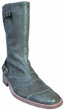 Belstaff Perforated Leather Roadmaster Italian Biker Boots EU Size 41 Shoes
