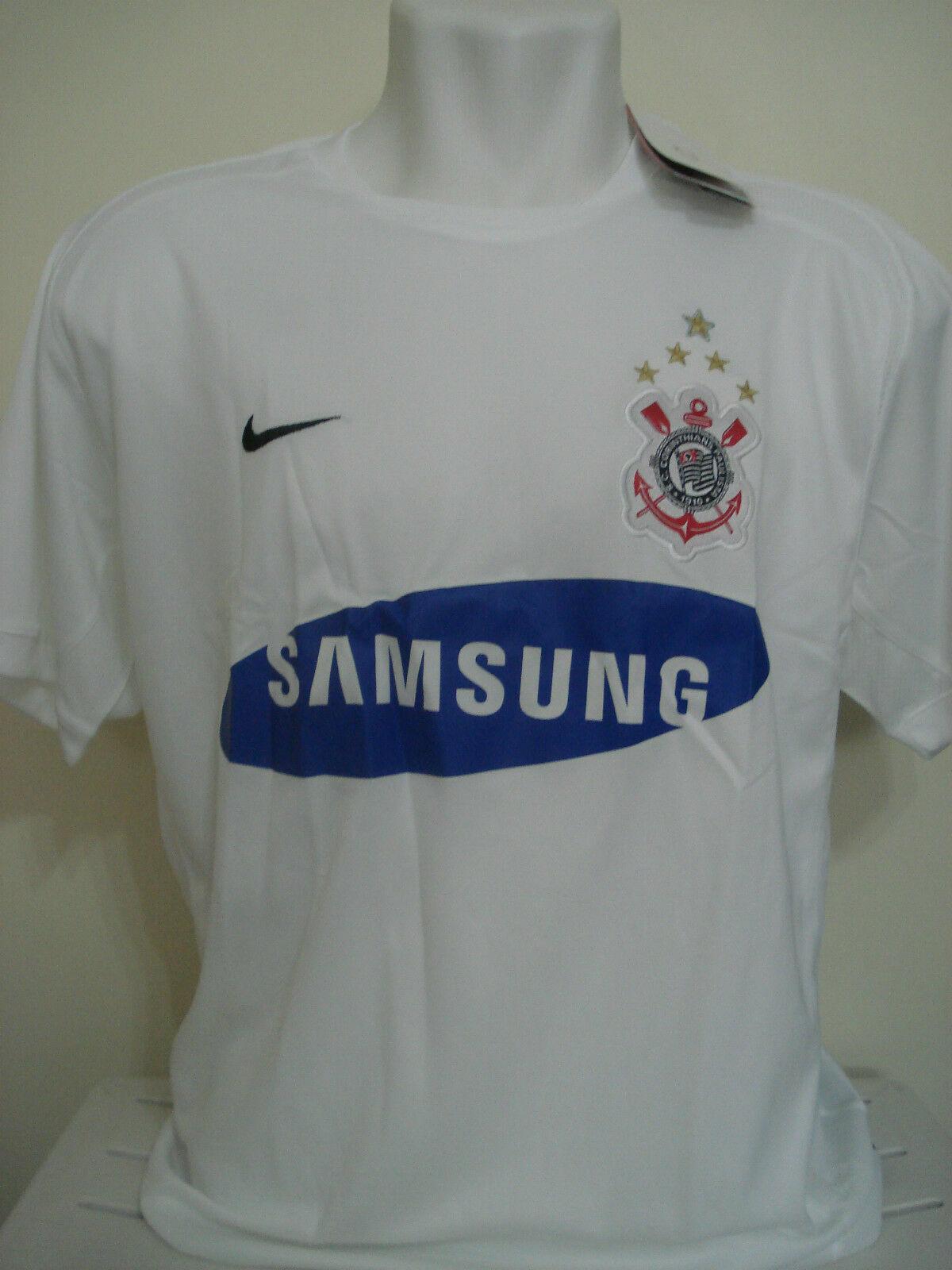 Corinthians Brasil Camiseta de fútbol jersey trikot maglia Casa BNWT