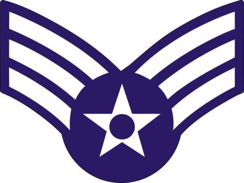 US Air Force USAFSenior Airman Rank Insignia Decal Sticker