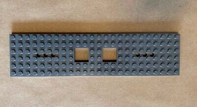 LEGO PART 6584A BLACK 6 x 24 TRAIN BASE WITH 3 ROUND HOLES x 1