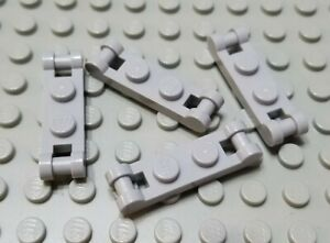 New LEGO Lot of 4 Dark Bluish Gray 1x2 Bar End Plate Pieces