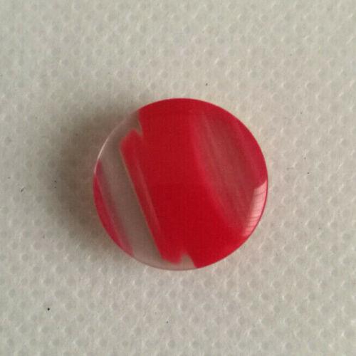 Abigarrado rayas botones de vástago de dos tonos en varios colores 15mm