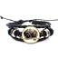 Champ Legends ~ Turquie Verre Cabochon Bracelet Tressé Bracelet En Cuir Bracelets