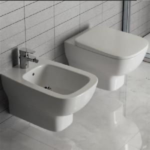 Sanitari sospesi bagno vaso wc sedile tradizionale bidet esedra ideal standard ebay - Sanitari bagno ideal standard ...