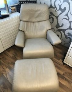 Stressless Sessel Mit Hocker Frensehsessel Beige Nussbaum Top Neu Preis 2400 Ebay