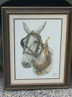 /'MULES/' LIMITED ED FINE ART PRINT HAND SIGNED ARTIST S BANKS